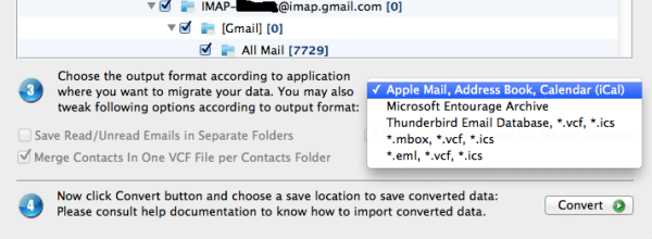 import outlook olm file into apple mail