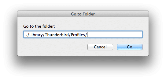 Thunderbird profile folder location