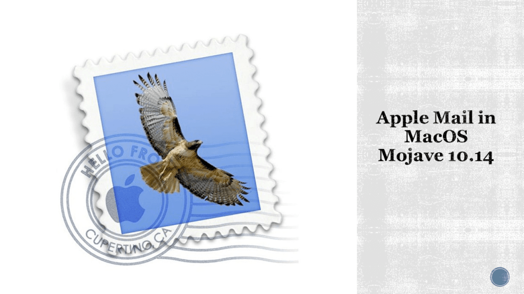 Apple Mail in MacOS Mojave 10.14