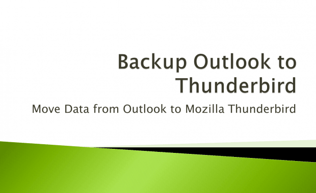 Backup Outlook to Thunderbird Mail Database