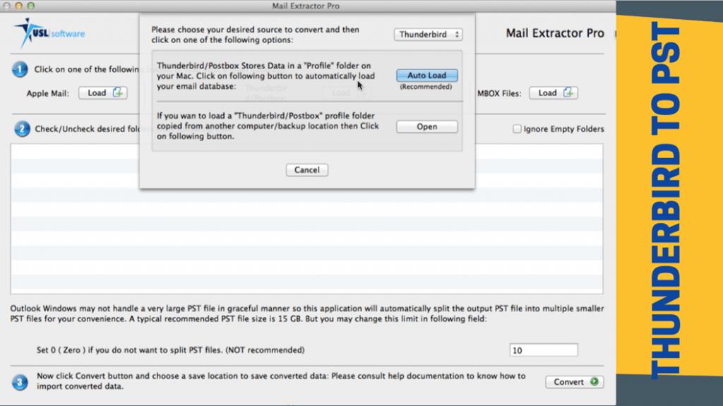Convert Mozilla Thunderbird Export to PST