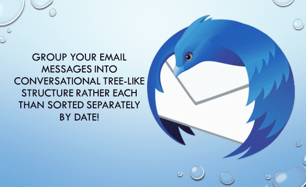 Conversational Style Formatting of emails in Thunderbird