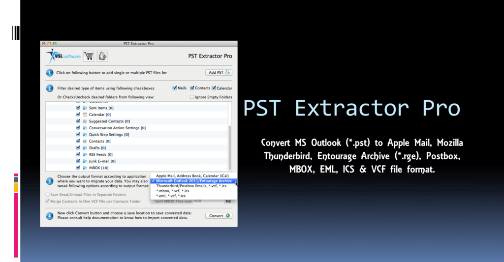 Export PST to EML