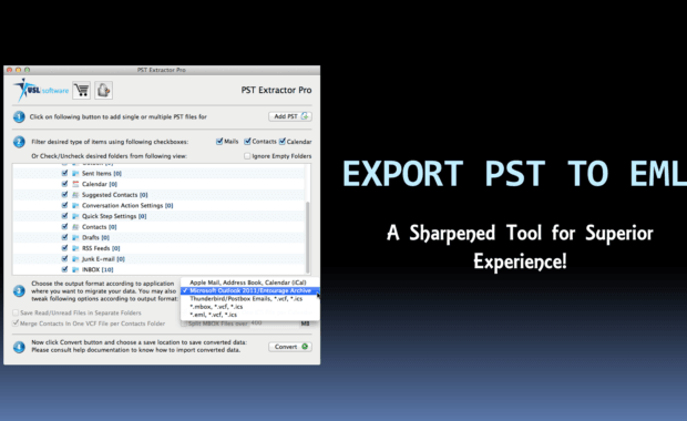 Export PST to EML file