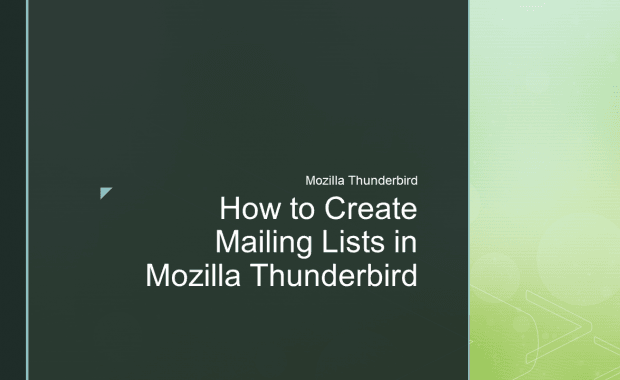 How to Create Mailing Lists in Mozilla Thunderbird