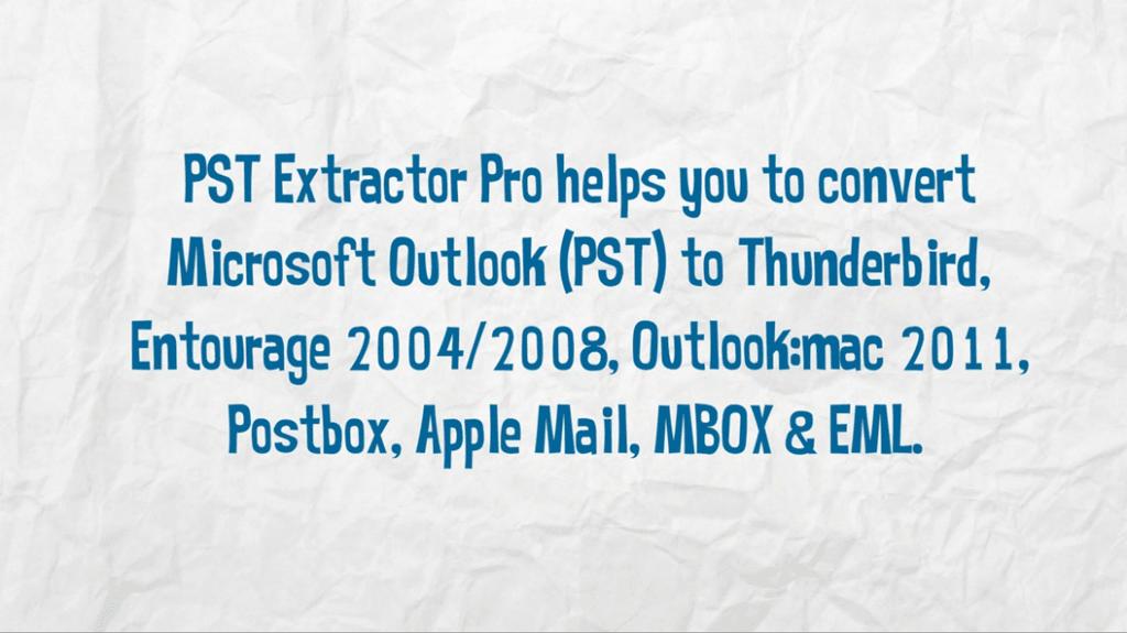 Import PST to Thunderbird