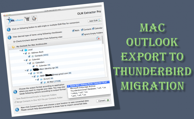 Mac Outlook Export to Thunderbird Migration