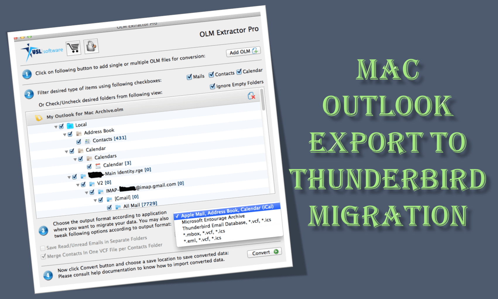 Mac Outlook Export to Thunderbird - Now You can Finally be