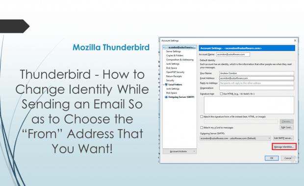 Mozilla Thunderbird Identity Change While Sending Email
