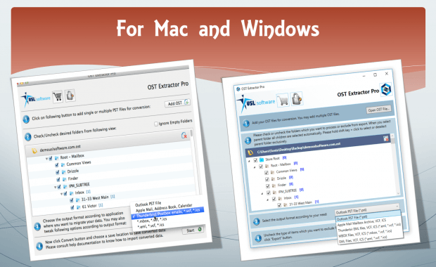 OST to PST Converter for Mac and Windows