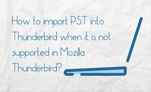 Outlook PST to Mozilla Thunderbird