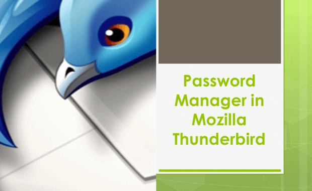 Password Manager in Mozilla Thunderbird