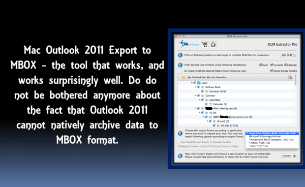 convert mac outlook 2011 export to mbox