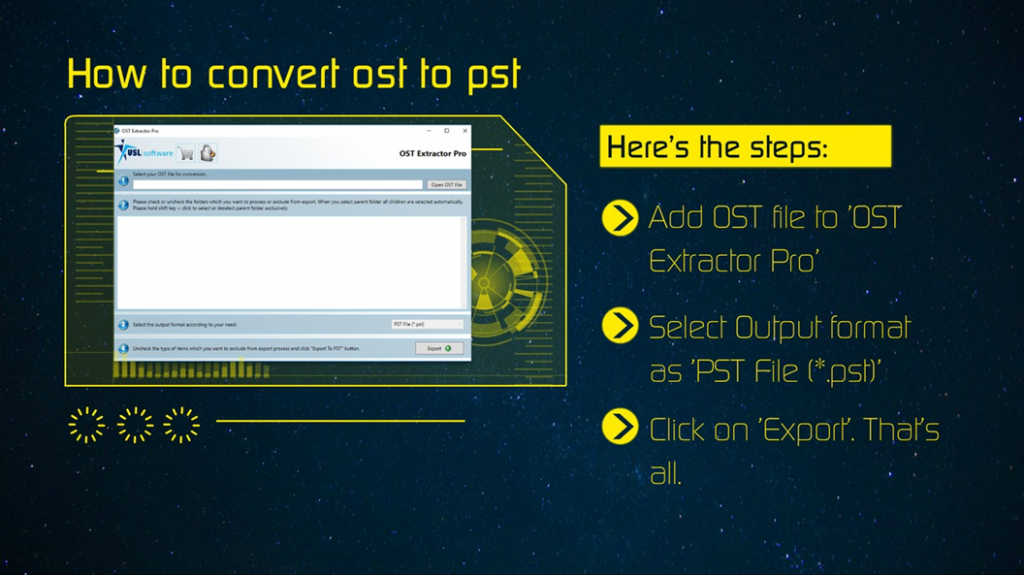convert ost to pst in mac