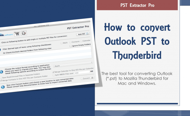 convert outlook pst to thunderbird