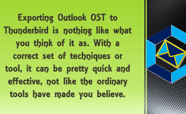 export outlook ost to thunderbird