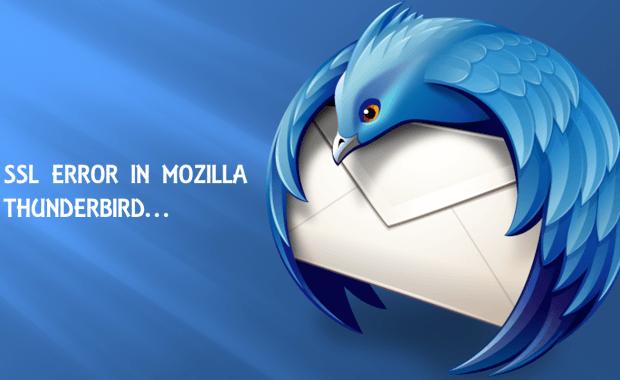ssl error in mozilla thunderbird